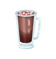 coffee smoothie with marshmallows refreshment vector image vector image