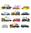 colorful city transport evacuation set vector image vector image