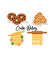 cookie biscuit logo vector image