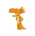 cute boy in dragon costume kid dressed for vector image vector image