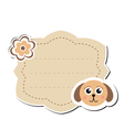 Cute sticker label frame for text Kids tag vector image vector image