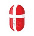 Danish patriotic pill Denmark Capsule flag vector image vector image