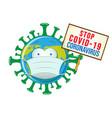 earth with covid19 sign board cartoon convertito vector image