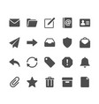 email glyph icons vector image