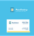 euro logo design with business card template vector image