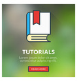 Flat design concept for tutorials with blur vector image