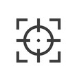 focus sight icon gray on a white background vector image