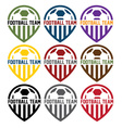 football team labels set vector image vector image