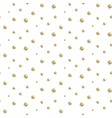Gold foil glitter polkadot seamless pattern vector image vector image