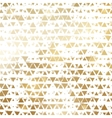 Golden shiny triangle mosaic on white vector image vector image