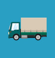 green covered truck isolated vector image