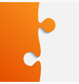 grey and orange piece puzzle jigsaw vector image vector image