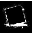 Grunge ink blots black vector image