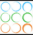 grungy textured circles - colorful circles with vector image