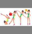 gymnastics female player gymnastic tape vector image vector image