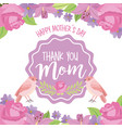 happy mothers day thank mom label vintage label vector image vector image