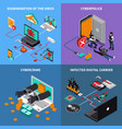 hardware protection concept icons set vector image