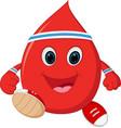 healthy blood cartoon running vector image