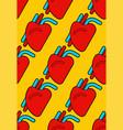heart human pattern seamless organ man vector image vector image