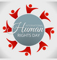 human rights day concept background cartoon style vector image vector image