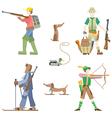 Hunters vector image