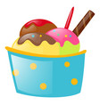 ice cream in paper cup vector image