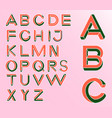 impossible geometry letters impossible shape font vector image vector image