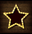 large star with a number of lights are lit vector image