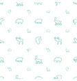 mammal icons pattern seamless white background vector image vector image