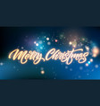 merry christmas neon lettering vector image vector image