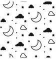 Moon and clouds seamless pattern vector image vector image