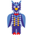 mosaic style colorful owl vector image vector image