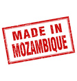 Mozambique red square grunge made in stamp vector image vector image