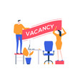 open vacancy - flat design style colorful vector image vector image