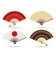 oriental japan fan set vector image vector image