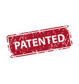 patented sign sticker stamp texture vector image