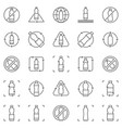 recycle plastic bottle line icons set vector image