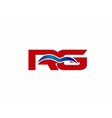 RG letter logo vector image vector image