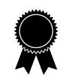 rosette medal on white background vector image vector image