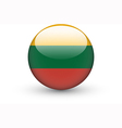 Round icon with national flag of Lithuania vector image vector image
