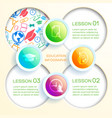 school education infographics vector image vector image