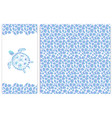 sea turtle imitation of pebbles seamless pattern vector image