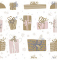 seamless pattern for christmas with elements vector image vector image