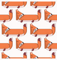 seamless pattern with cute cartoon foxes3 vector image