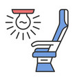 seat light color icon vector image vector image
