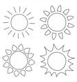 Set of hand drawn sun vector image vector image