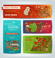 set of merry christmas banners vector image vector image