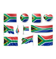 set south africa flags banners banners symbols vector image vector image