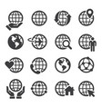 simple set globe related outline icons vector image vector image