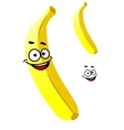 Smiling ripe yellow tropical banana vector image vector image